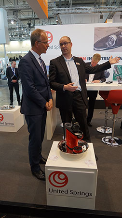 Dutch Minister of Finance, Henk Kamp with Paul Zwiep